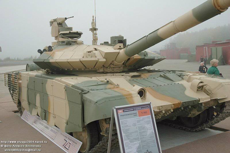 На модернизированной версии танка Т-90С установлен более мощный дизельный...
