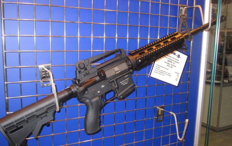 アメリカのカービン銃コルトM4のロシア語版 -  Vepr-15を狩猟するためのカービン銃