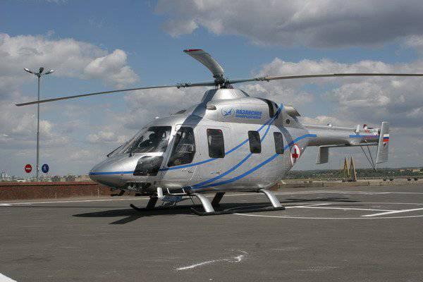 Helicóptero Ansat com um novo sistema de controle demonstrado em Kazan