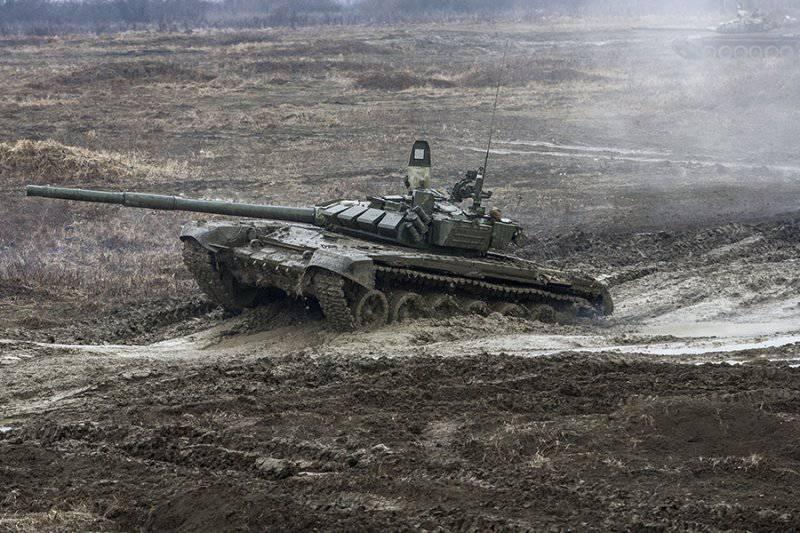 Вождение танков Т-72БМ (Чеченская Республика)
