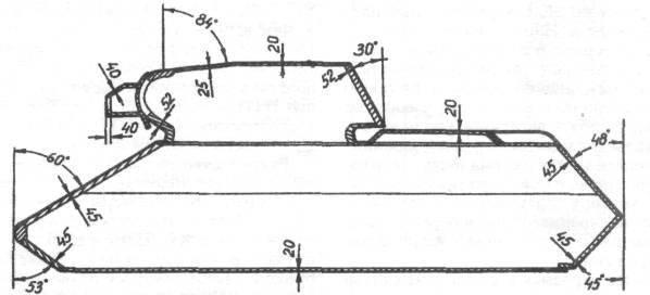 Схема бронирования танка Т-34-