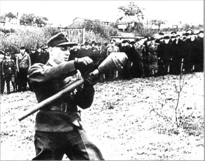 Фаустпатрон (Faustpatrone) -  РПГ «Panzerfaust»