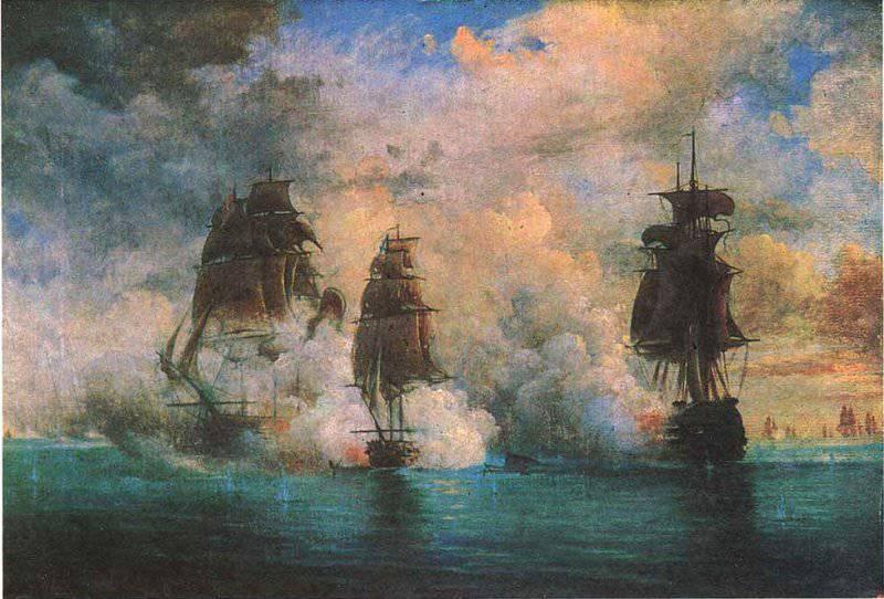 """К годовщине геройского боя брига """"Меркурий"""" с турецкой эскадрой у входа в Босфор 26 мая 1829 года"""