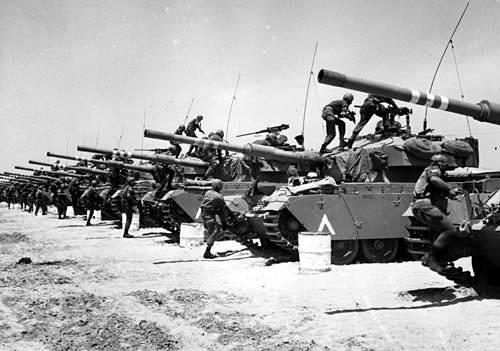 इज़राइल और मिस्र, सीरिया और जॉर्डन के बीच छह दिवसीय युद्ध। 2 का हिस्सा
