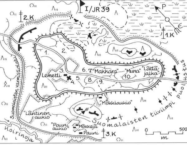 Карта-схема окруженного