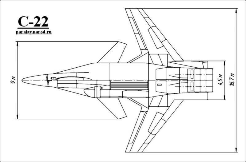 """Истребитель, выполненный по схеме  """"утка """", был сравним по своим размерам с самолетом Су-27.  Благодаря новому крылу и..."""