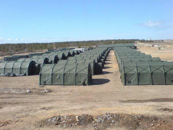 Новый полевой лагерь 9-й мотострелковой бригады