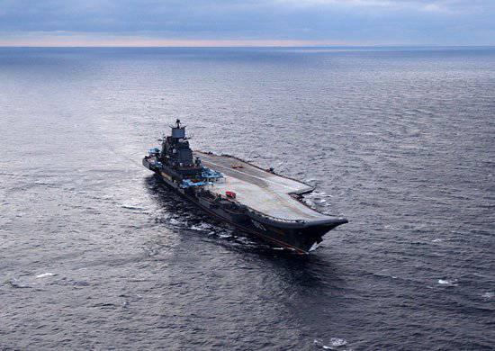 """북부 함대에서는 항공 모함 """"소련 함대의 제독 Kuznetsov""""의 참여로 대규모 운동이 될 것입니다."""