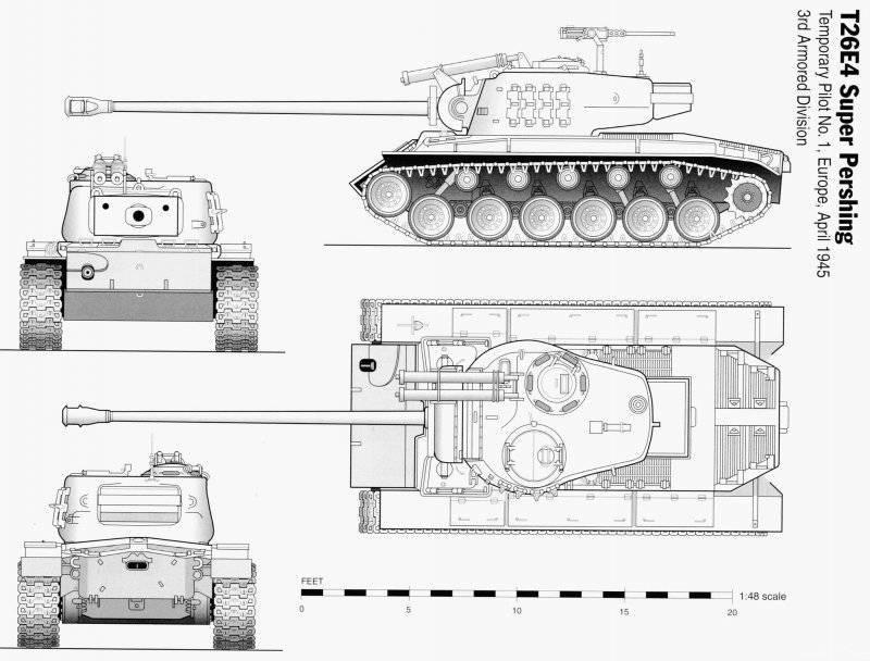 Тяжелый танк T26E1 Super Pershing