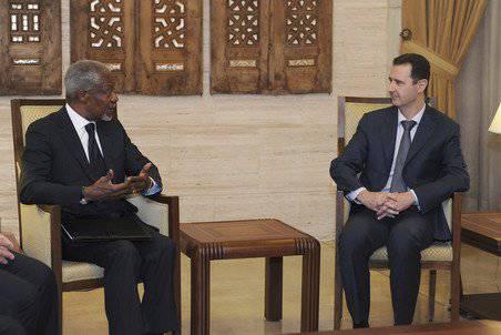 Kofi Annan washes his hands