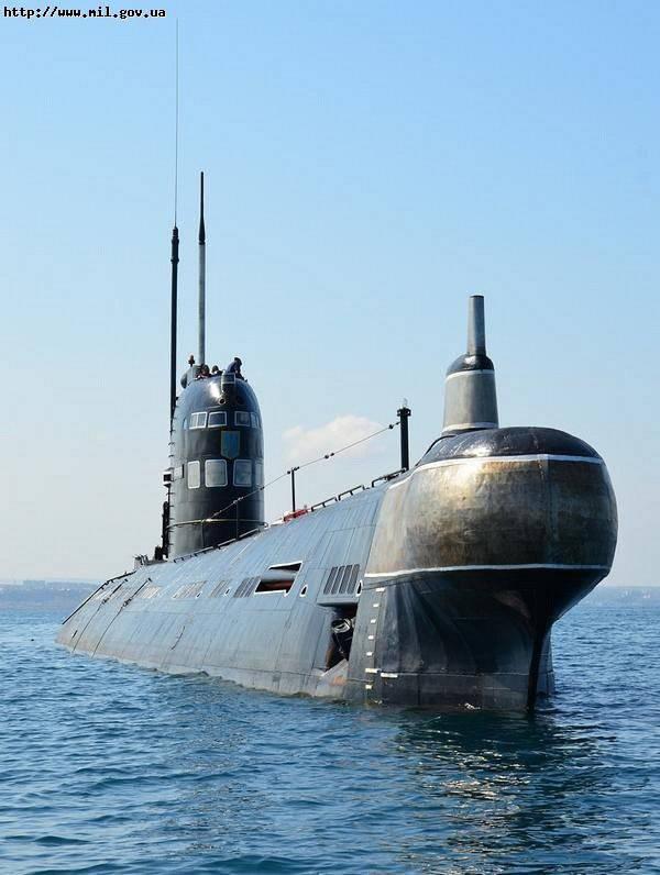 Das U-Boot Saporoschje stürzte in die Tiefe des Periskops