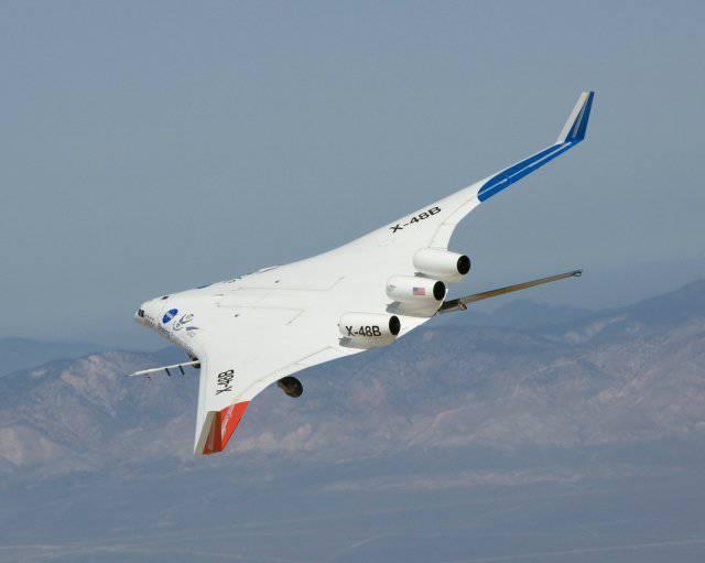 Boeing primeiro testou o modelo da aeronave X-48C