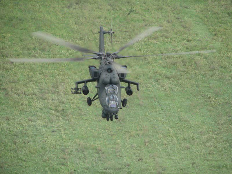 Le prochain lot d'hélicoptères Mi-35M est arrivé à la base aérienne de l'armée de l'air du district militaire sud