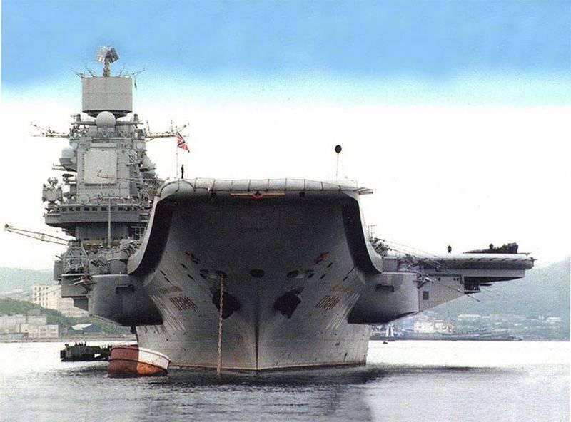 """Projeto pesado cruzador de aeronaves 1143.5 """"Almirante da frota da União Soviética Kuznetsov"""""""
