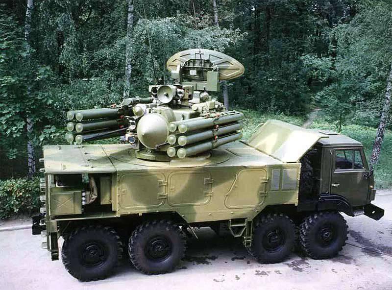 "Complexo antiaéreo de mísseis de curto alcance ""Pantsir-С1"" 96K6"