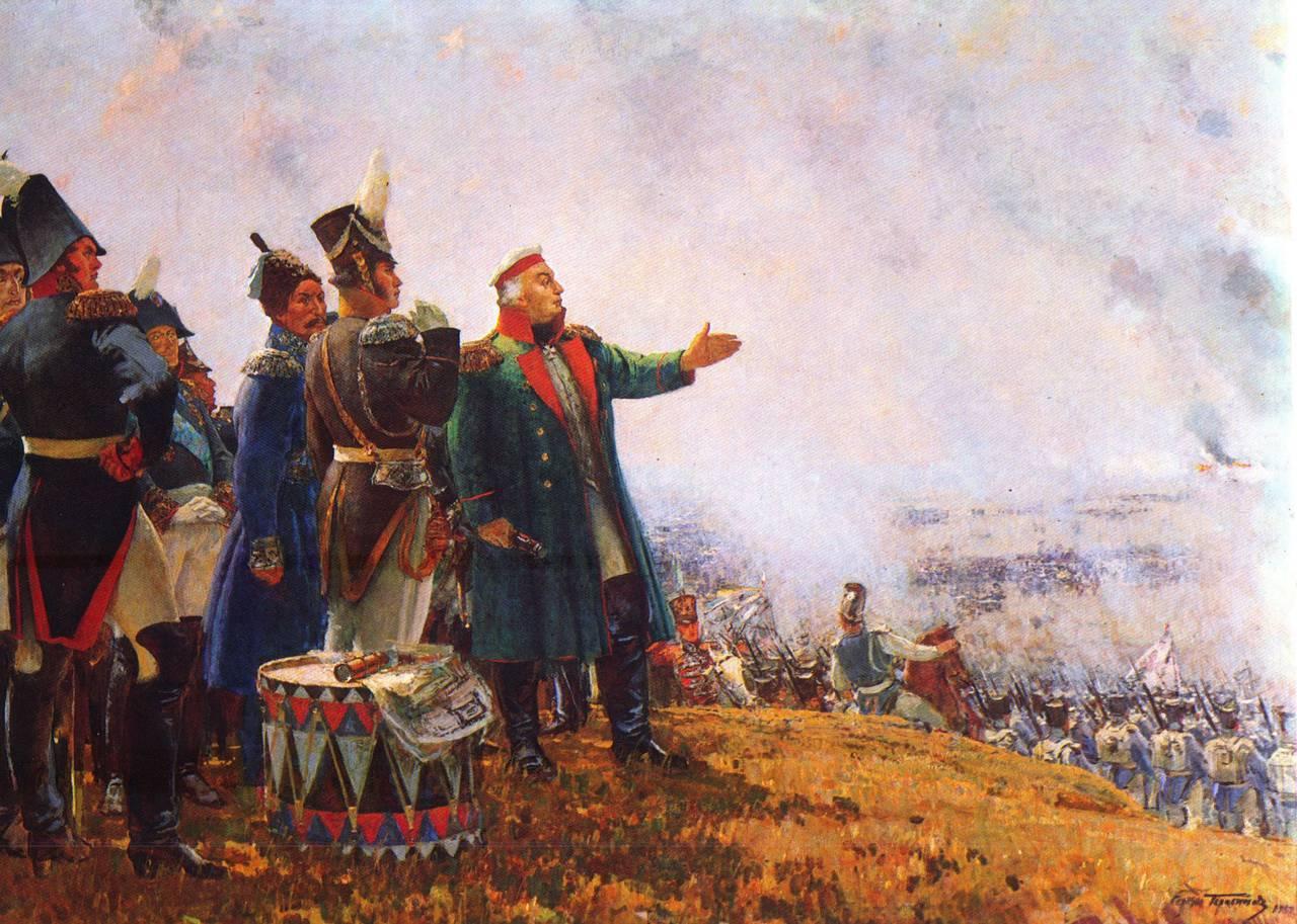 бородинское сражение рисунки: