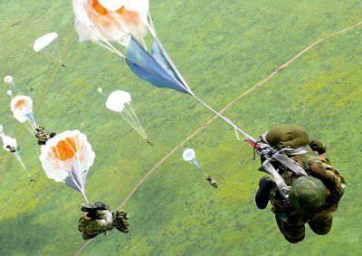 Спуск на парашюте