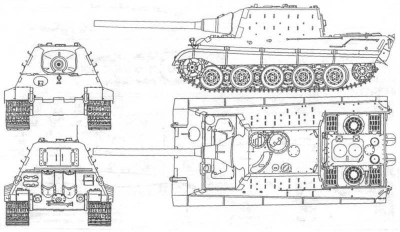 Бронирование – 40 - 250 мм;