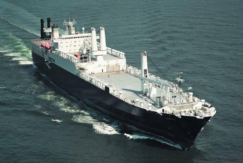 अमेरिकी नौसेना के तेजी से प्रतिक्रिया बल के हिस्से के रूप में सोवियत जहाज