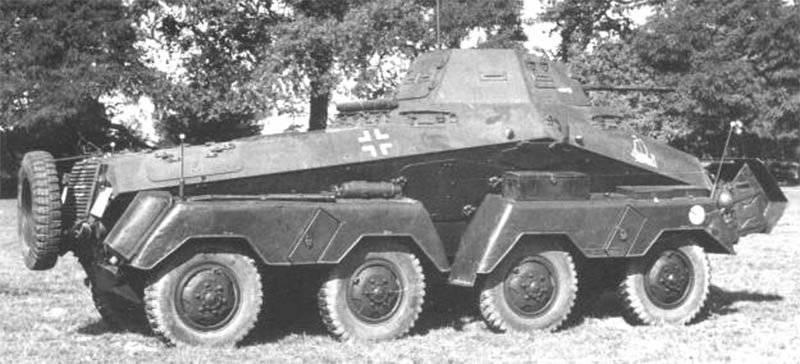 Heavy armored cars of the Sd.Kfz family. 231 8-Rad