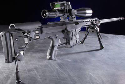 Barrett sniper rifles chambered for .338 Lapua Magnum