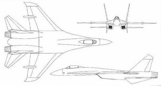 схемы самолета Су-27
