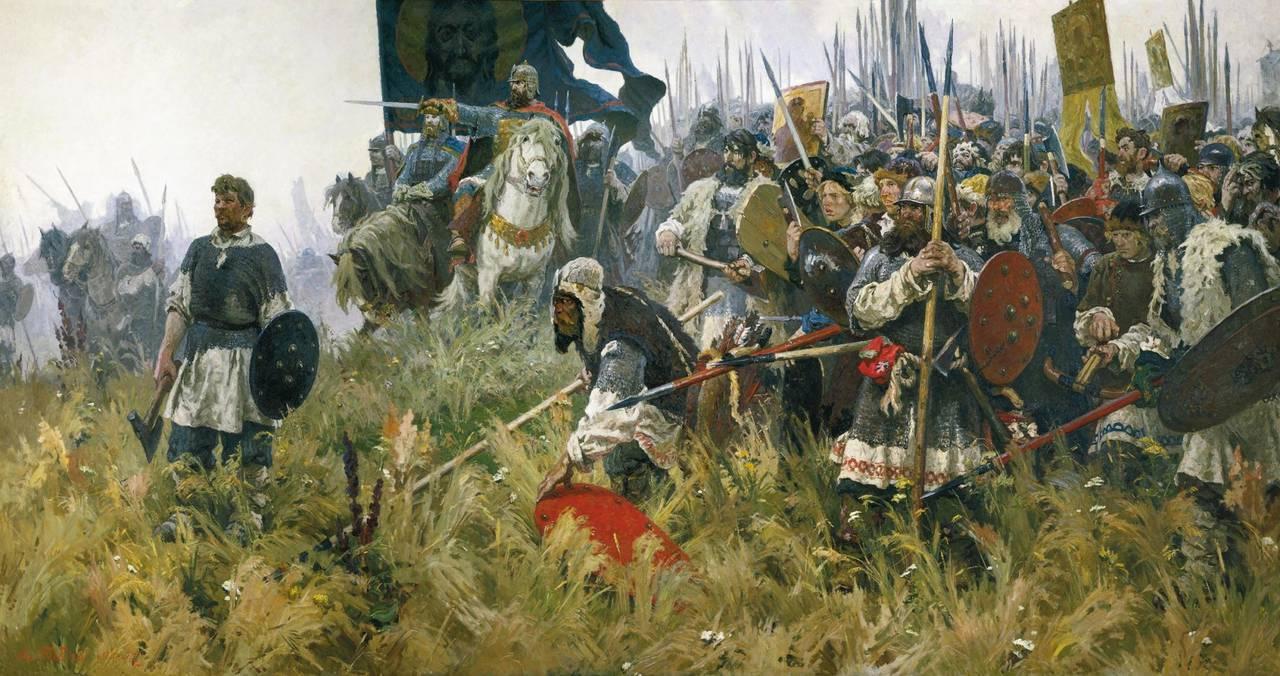 Победа русских войск в куликовской