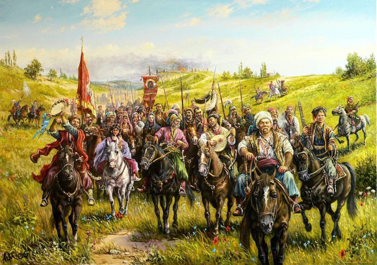Уже в лагере часть казаков ...: olpictures.ru/kartinki-kazakov.html