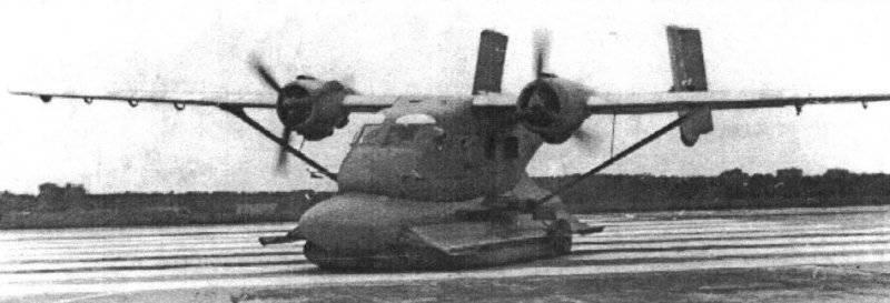 Советский экспериментальный самолет на воздушной подушке АН-14Ш