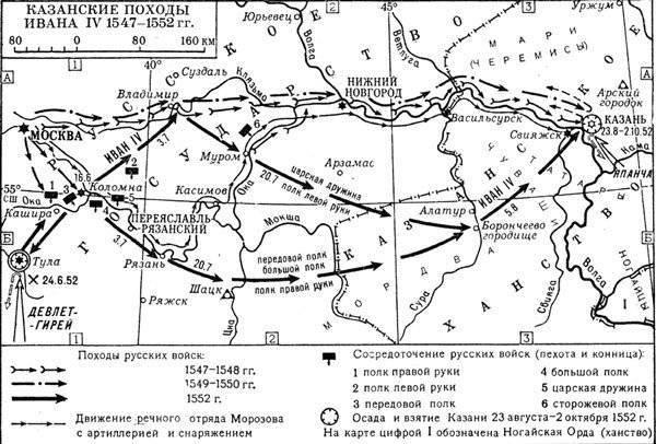 Казанские походы В первой половине XVI века, преимущественно в годы правления ханов из крымского рода Гиреев...