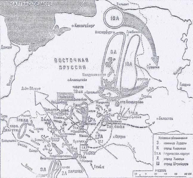 Первая мировая война.  Праснышская операция.