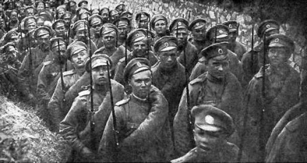 प्रथम विश्व युद्ध का इतिहास। दो बैनर