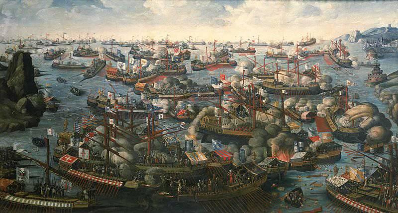 7 10月1571。レパントの戦いが起こった