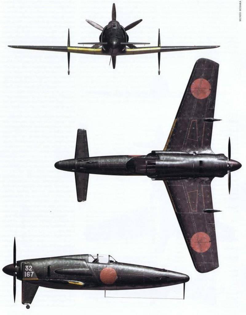 日本語インターセプターJ7Wシンデン(1943-1945gg)