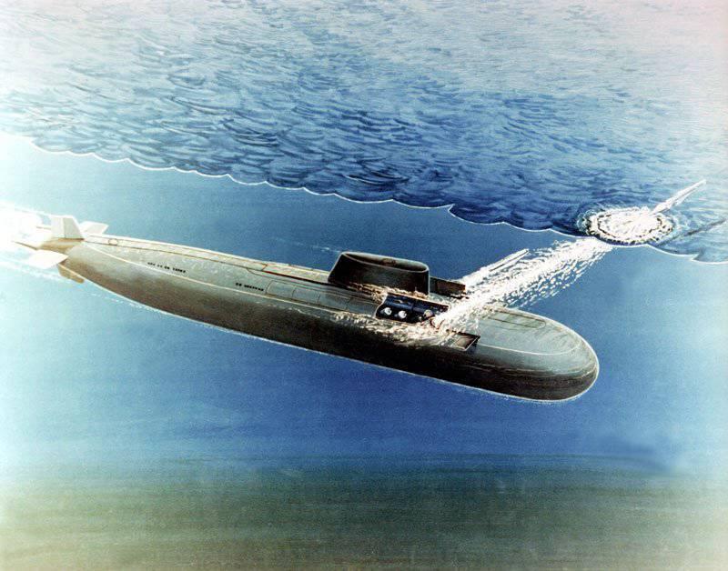 "Submarinos nucleares con misiles de crucero. Proyecto 949 ""Granito"""