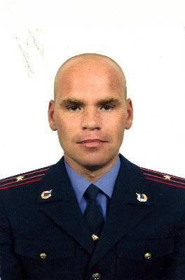 El oficial de SOBR Alexander Shushakov