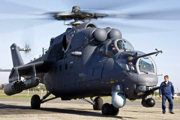 The newest attack helicopters Mi-35М were tested on the Kuban