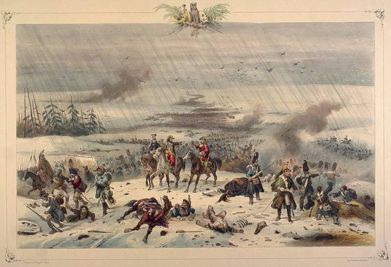 Отступление французской армии. Вяземское сражение 22 октября (3 ноября) 1812 года