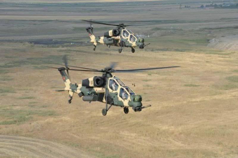 T-129A helicóptero de apoio de combate para as forças armadas turcas