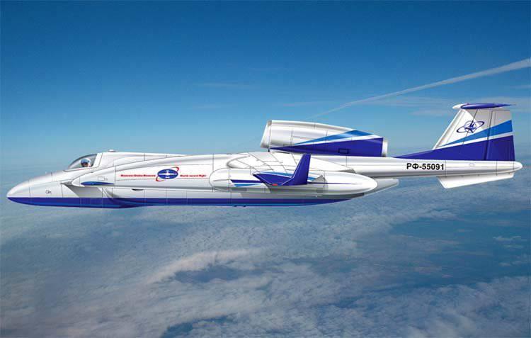 Aviões experimentais para voos de longo curso M-55РД
