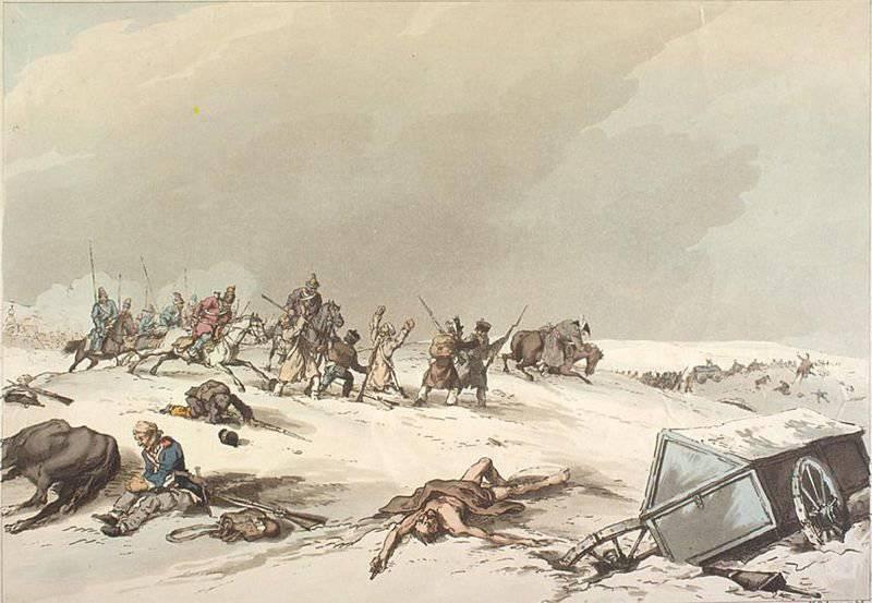 Batallas bajo Dorogobuzh octubre 26 (noviembre 7), cerca de Lyakhovo y en el río Vop X octubre octubre (noviembre 28)