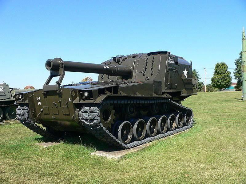 アトミックアメリカン自走砲 -  T-162(1950gg)のプロトタイプ