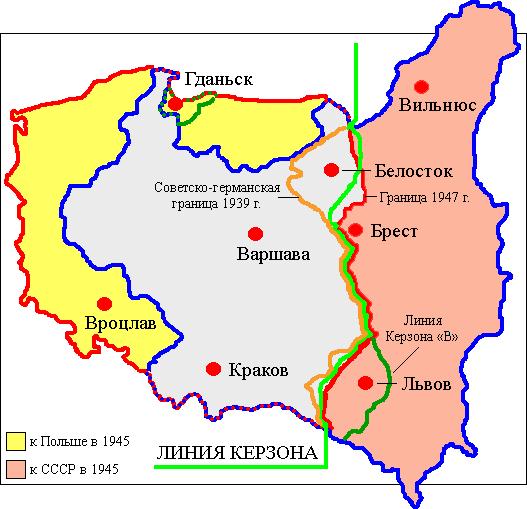 Confrontación territorial soviético-polaca.