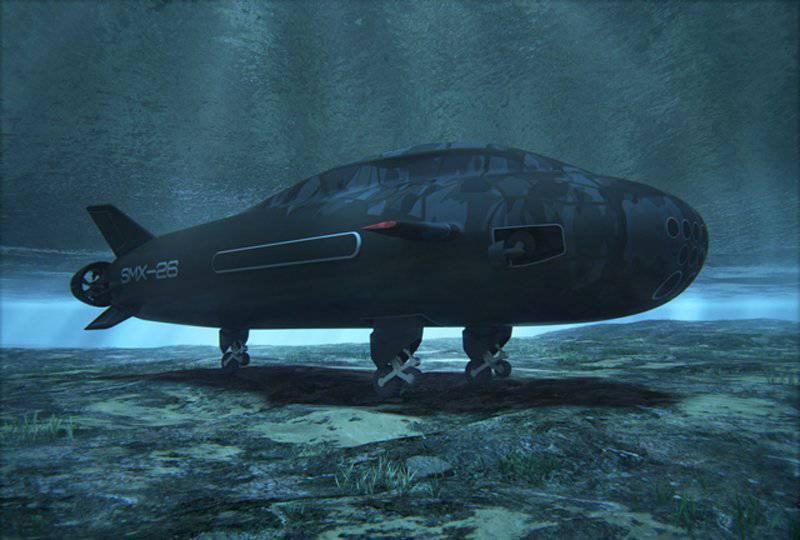 La empresa francesa de construcción naval DCNS presentó el concepto de un nuevo submarino SMX 2012 en la cabina Euronaval-26.