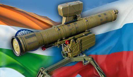"""O governo da Índia aprovou a compra de um grande lote de mísseis guiados anti-tanque russo """"Competição-M"""""""