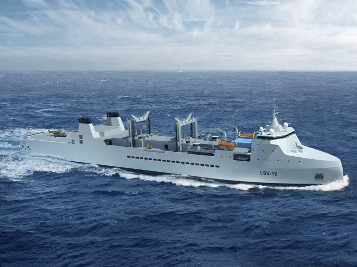 Navio francês fornecimento integrado BRAVE
