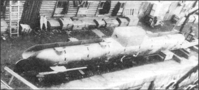"""水中駆逐艦のプロジェクトE.V. Kolbasieva( """"猫の船乗りピーター"""")"""