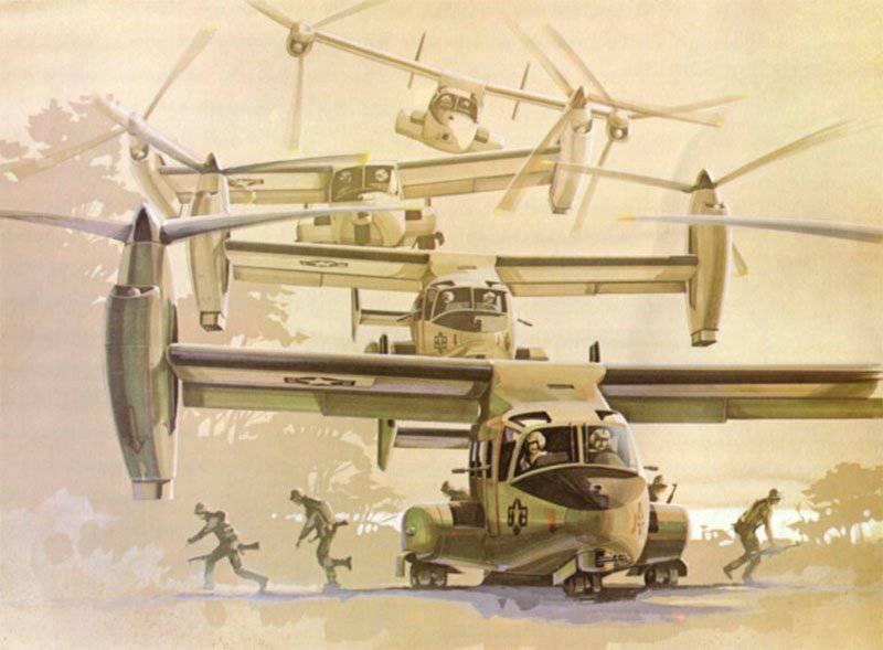 Convertoplane (helicóptero) Bell V-22 Osprey
