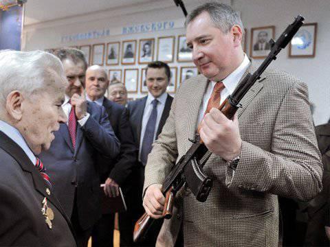 "Dmitry Rogozin a proposé d'organiser l'inquiétude ""Kalachnikov"""