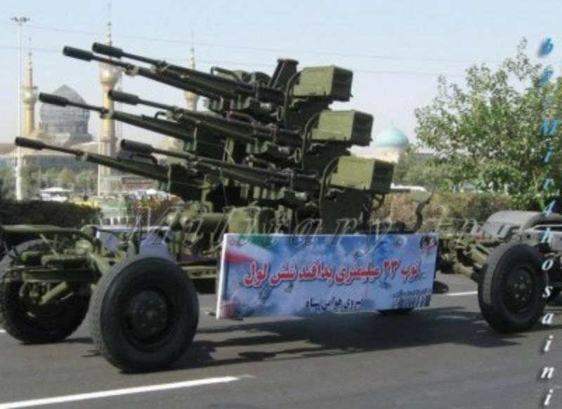 Зенитный малокалиберный автоматизированный арткомплекс «Mesbah-1» (Иран)